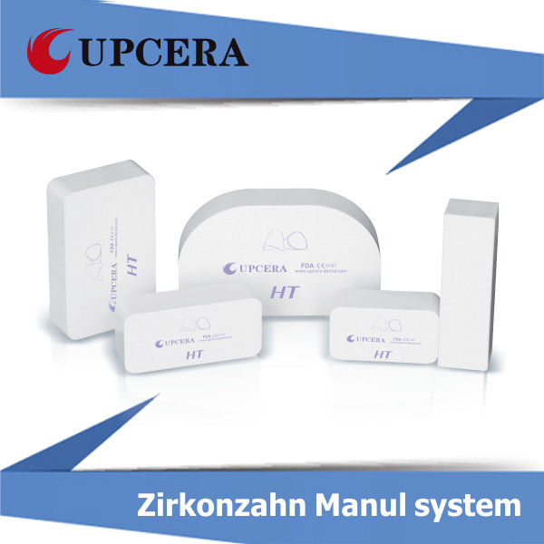High Translucency Zirconia HT White Blank Manual System 1400Mpa Bending Strength