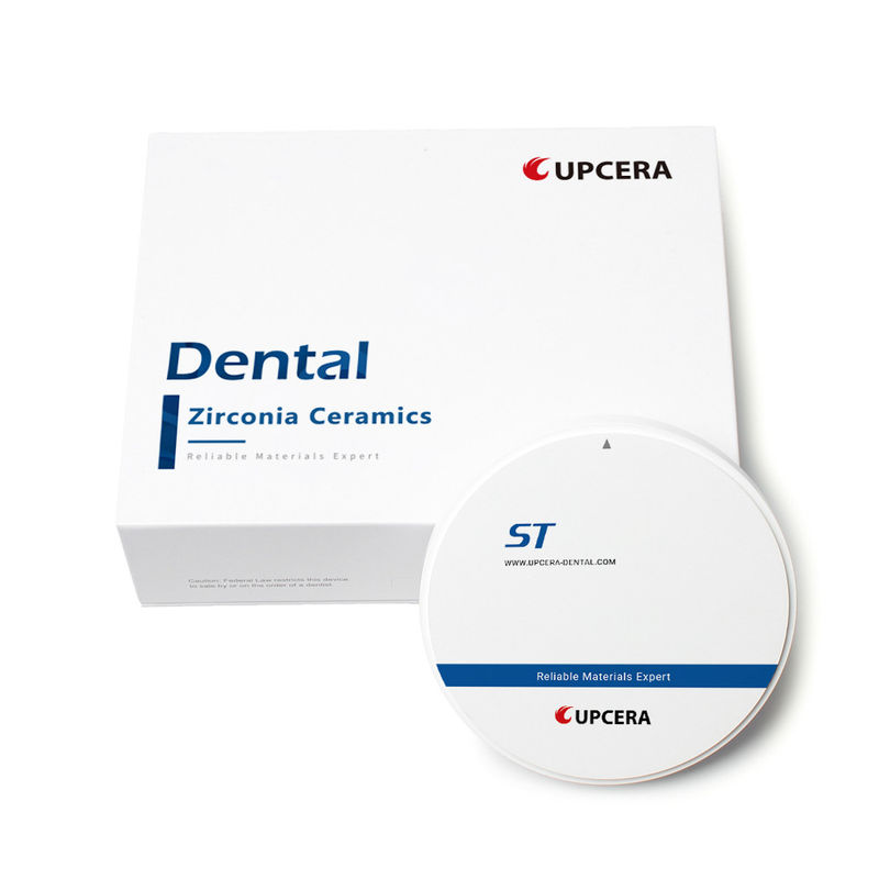 KFDA 100μG/Cm2 High Translucent Zirconia In Dentistry ST White Blank